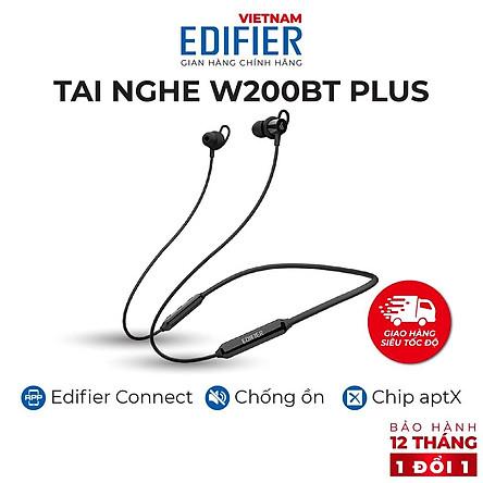Tai nghe Bluetooth 5.1 EDIFIER W200BT Plus Âm thanh Stereo Chống nước IP54 - Hàng chính hãng