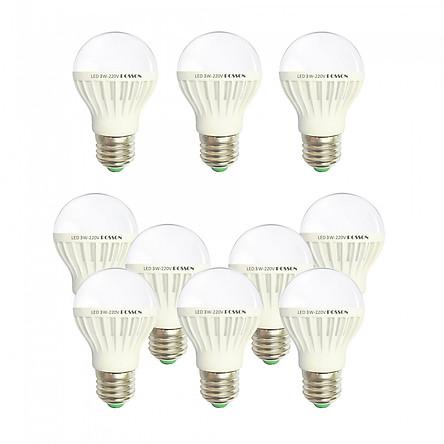 10 Bóng đèn Led 3w tiết kiệm điện sáng vàng nắng Posson LB-E3G