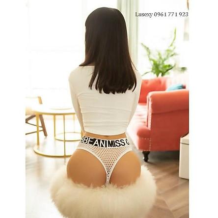 Quần lót nữ lọt khe lưới siêu sexy gợi cảm - Shop đồ lót nữ đẹp Lusexy màu đen, trắng, đỏ, xanh, vàng chất cotton đẹp