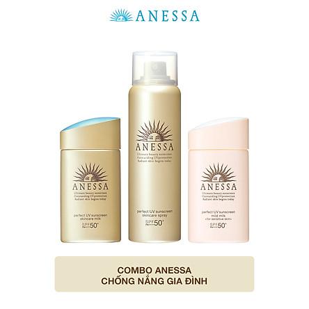 Combo Anessa chống nắng gia đình