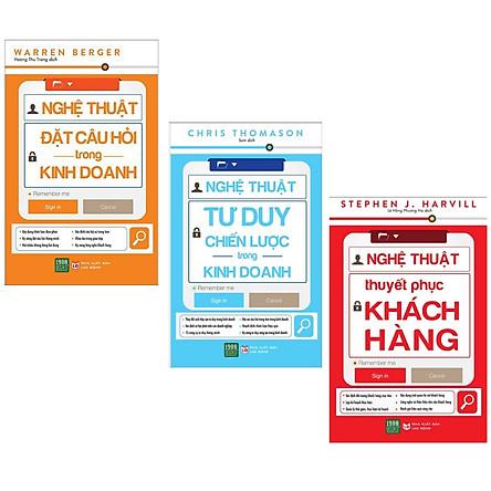 Combo 3 Cuốn Sách Kinh Doanh Hay: Nghệ Thuật Đặt Câu Hỏi Trong Kinh Doanh + Nghệ Thuật Tư Duy Chiến Lược Trong Kinh Doanh + Nghệ Thuật Thuyết Phục Khách Hàng ( Tặng Kèm PostCard GreendLife)