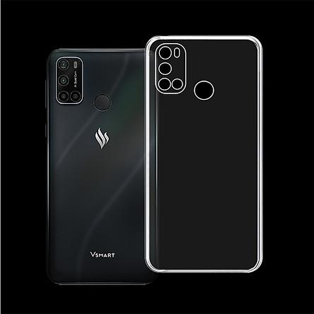 Ốp lưng/Case có viền CHE CAMERA cho điện thoại VSMART JOY 4 - Ốp dẻo cao cấp trong suốt, bảo vệ điện thoại - Hàng Chính Hãng