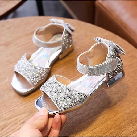 giày sandal bé gái nhiều hạt