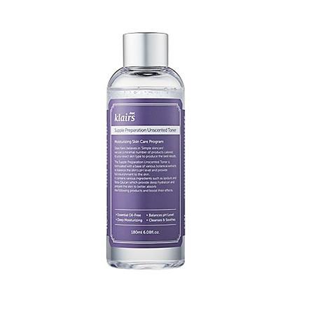 Nước hoa hồng chống viêm không mùi Klairs Supple Preparation Unscented Toner