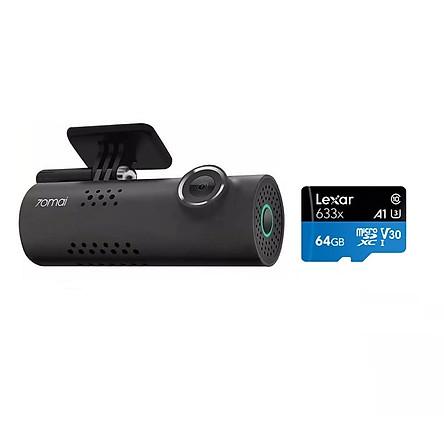 Combo Camera Hành Trình cho Ô tô Xiaomi 70mai Dash Cam Full HD 1080P , Bản 1S Midrive D06, Kèm thẻ nhớ 64GB A1 4K Lexar  -Hàng chính hãng (New Model)