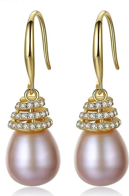 Bông Tai Ngọc Trai Cao Cấp B2327 Cỡ Hạt 10x11 Ly Bảo Ngọc Jewelry
