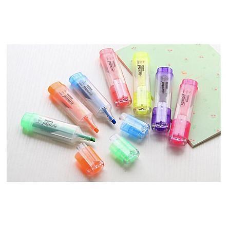Bộ 7 bút dạ quang, bút Highlight, bút ghi nhớ sắc màu cho học sinh, sinh viên