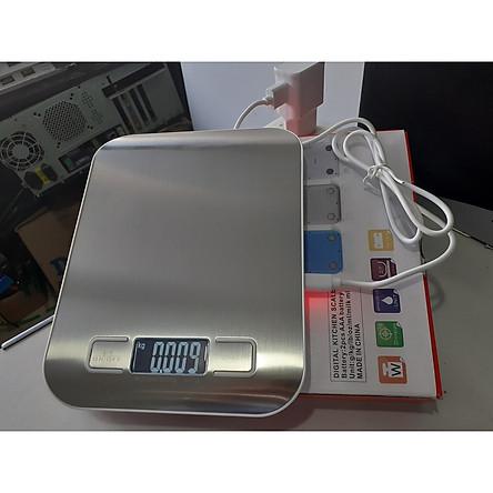 Cân điện tử tiểu ly 10KG - 1g ,cân nhà bếp mini ,cân nhà bếp nhỏ gọn , cân điện tử để bàn , cân nguyên liệu chính xác cao cấp(dùng sạc cổng USB)