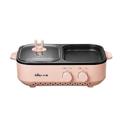 Bếp Nướng Kèm Lẩu Mini 2In1 Thương Hiệu BEAR DKL-C12D1 - Hàng Chính Hãng