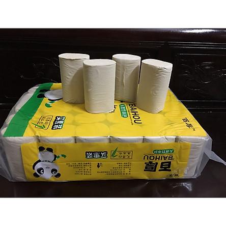 túi, bịch có 36 cuộn giấy ăn than tre gấu trúc hàng loại 1