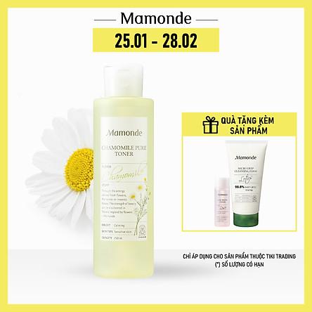 Nước Cân Bằng Dưỡng Ẩm Thiết Yếu Dịu Nhẹ Cho Da Nhạy Cảm Mamonde Chamomile Pure Toner (250ml) 110651228