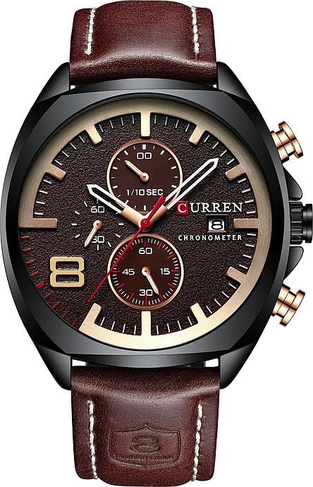 Đồng hồ dây da đeo tay nam Chạy Đủ 6 Kim thương hiệu CURREN   Hàng nhập khẩu