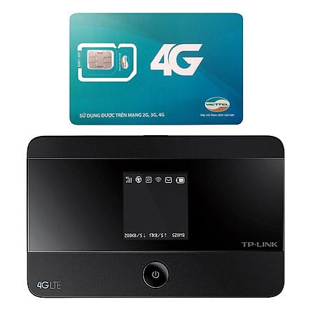Bộ Phát Wifi Di Động 4G TP-Link M7350 300Mbps + Sim Viettel 3G/4G (Khuyến Mại 9GB / Tháng) - Hàng Chính Hãng