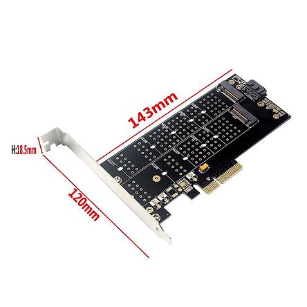 Bảng Mạch Nvme Giao Diện Pcie Sang M.2 SSD Thẻ Tiếp Hợp Kép 110mmm Key Plus