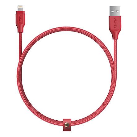 Dây Cáp Sạc Lightning Cho iPhone Chuẩn MFi Aukey CB-AL1 1.2m - Hàng Chính Hãng