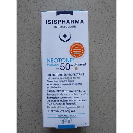 Kem che khuyết điểm kết hợp Chống nắng Neotone Prevent SPF50 Isis Pharma