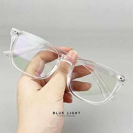 Kính Giả Cận, Gọng Kính Cận Nam Nữ Mắt Vuông To Gọng Nhựa Đen Nhám, Trong Suốt Không Độ Hàn Quốc - BLUE LIGHT SHOP