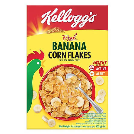 Ngũ cốc ngô & chuối Kellogg's Banana Corn Flakes hộp 180gr