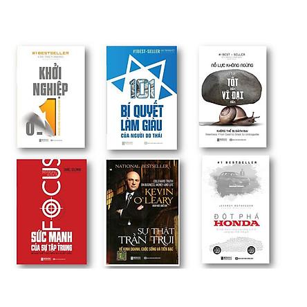 Combo 6 cuốn sách 101 Bí Quyết Làm Giàu Của Người Do Thái - Nỗ Lực Không Ngừng – Từ Tốt Đến Vĩ Đại Đến Không Thể Bị Đánh Bại - Khởi Nghiệp 0 – 1: Những Điều Không Thể Bỏ Qua Khi Khởi Nghiệp - Sức Mạnh Của Sự Tập Trung - Đột phá Honda – Bí Mật Thành Công Của Công Ty Xe Sáng Tạo Nhất Thế Giới - Sự Thật Trần Trụi Về Kinh Doanh, Cuộc Sống Và Tiền Bạc
