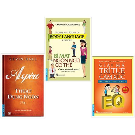 """Trọn bộ 3 cuốn """"Bí Kíp"""" giúp bạn có thể du hành vào tâm trí người khác! (Thuật Dụng Ngôn + Bí mật ngôn ngữ cơ thể + Giải mã trí tuệ cảm xúc)"""