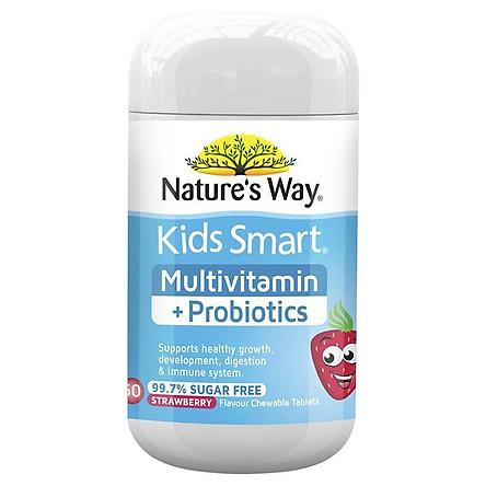 Nature's Way Kids Smart Multi + Probiotics 50 Tablets