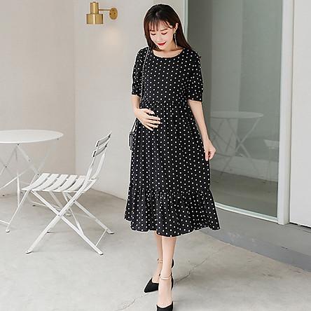 Đầm Bầu - Váy Bầu Suông Chấm Bi - ZD 72 (Ảnh Thật Chụp Chi Tiết)
