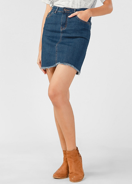 Váy Jeans Nữ PAPKA Tua Lai 4006