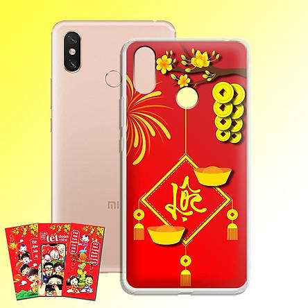 Ốp lưng dẻo cho điện thoại Xiaomi Mimax 3 - 01135 7969 LOC02 - Tặng bao lì xì Chúc Mừng Năm Mới - Hàng Chính Hãng