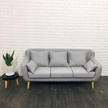 Sofa băng chung cư 1.8m (XÁM) Tặng bộ 5 gối trang trí