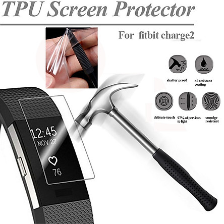 HD TPU Explosion-Proof Screen Protector For Fitbit Charge2 Watch