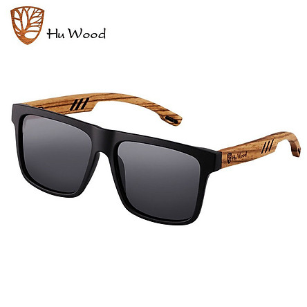 Kính mát Nam Nữ cao cấp  Hu Wood GR8029 Gọng Gỗ - Chống tia UV400 - Hàng Chính Hãng