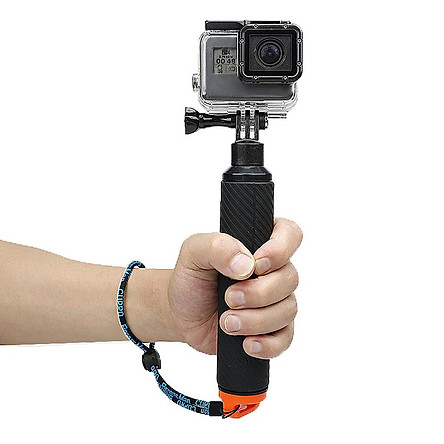 Floating Hand Grip for Gopro Hero 5 6 Black - Floating Handle Mount with Thumb Screw / Adjustable Wrist Strap / Wrench / Conversion Adapter / Trigger