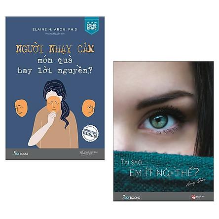 Combo Sách Hấp Dẫn Dành Cho Những Người Hướng Nội, Nhạy Cảm: Người Nhạy Cảm - Món Quà Hay Lời Nguyền + Tại Sao Em Ít Nói Thế? (Bộ Sách Giúp Bạn Trẻ Tự Tin Và Qúy Trọng Gía Trị Bản Thân / Tặng Kèm Bookmark Happy Life)