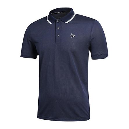 Áo thun thể thao Nam Dunlop - DASLS9052-1C Kiểu dáng Polo nam phù hợp mặc hàng ngày vận động thể thao cầu lông tennis