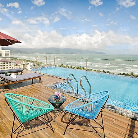 Halina Hotel 4* Đà Nẵng - Bữa Sáng, Hồ Bơi Vô Cực, Vị Trí Đẹp Gần Biển Mỹ Khê