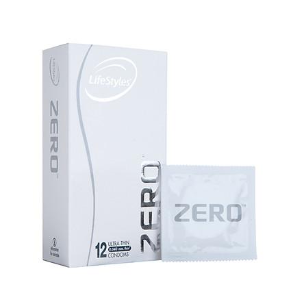 Bao cao su LifeStyles Zero làm từ cao su thiên nhiên cao cấp siêu mỏng cảm giác chân thật ( 12 Cái / Hộp ) - Xuất xứ Úc ( Hàng Chính Hãng )