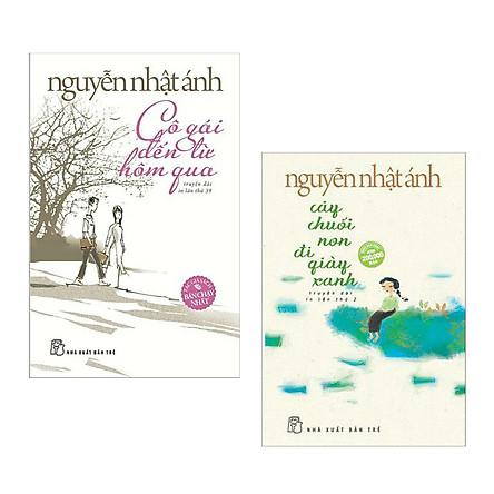 Combo Truyện Đặc Sắc của Nguyễn Nhật Ánh: Cô Gái Đến Từ Hôm Qua + Cây Chuối Non Đi Giày Xanh (2 cuốn/ Tặng kèm Bookmark Happy Life)