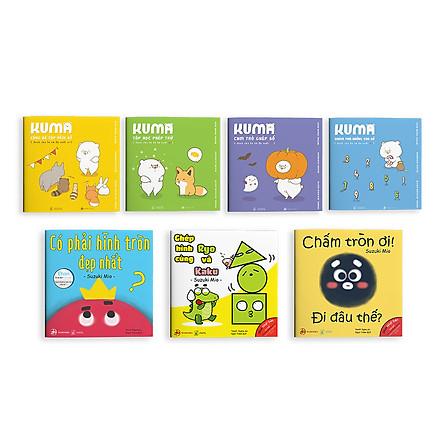 Combo 7 Cuốn Sách Ehon Nhật Bản: Gồm Bộ 4 Cuốn Ehon Kuma Làm Quen Với Môn Toán Và Bộ 3 Cuốn Ehon Hình Khối (Cho Bé 2 - 6 Tuổi)