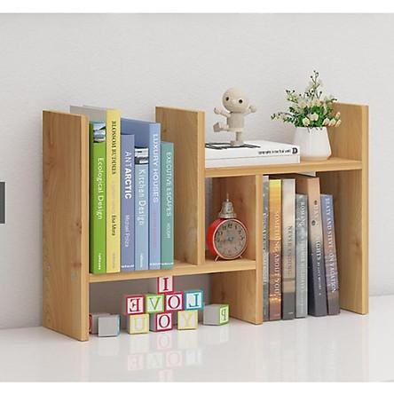 Kệ Sách Mini, Giá Để Sách, Tài Liệu Văn Phòng Trên Bàn Làm Việc Bằng Gỗ , Trang Trí Bàn Làm Việc Siêu Tiện Dụng