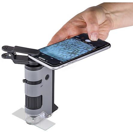 Kính hiển vi bỏ túi cao cấp Carson MicroFlip MP-250 (Phóng đại 100x -250x) có đèn tia cực tím UV kiểm tra tiền - Hàng chính hãng