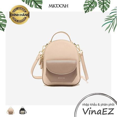 Balo mini Micocah kết hợp túi đeo chéo phối 2 màu cá tính - TX00442