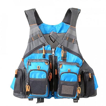 Lixada Outdoor Fishing Vest Pack Multi Pocket Breathable Mesh Fishing Vest Waistcoat Jacket Coat Unpadded