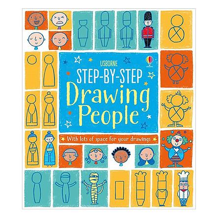 Sách tương tác tiếng Anh - Usborne Step-by-step Drawing People
