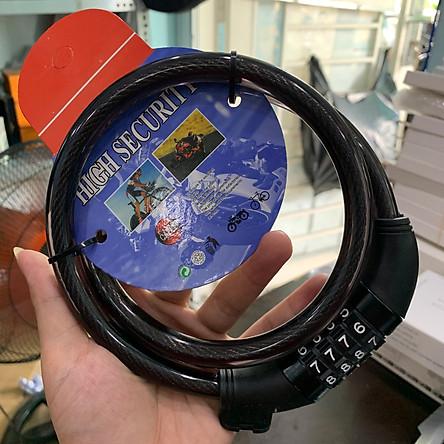 Khóa mật mã 4 số dây dài 80cm an toàn - tiện dụng