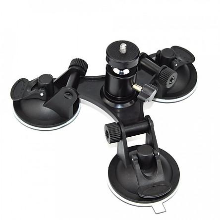 Đế hít kính xoay 360 độ gắn GoPro Hero lên kính xe hơi