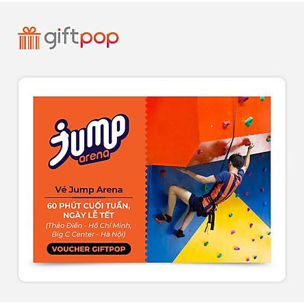 Giftpop - Vé Jump Arena 60' Cuối Tuần, Ngày Lễ Tết (Áp Dụng Tại JA Thảo Điền, JA Big C)