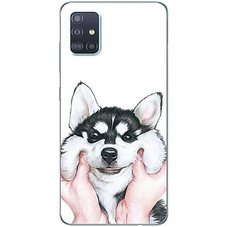 Ốp lưng dành cho Samsung A51 mẫu Nựng cún