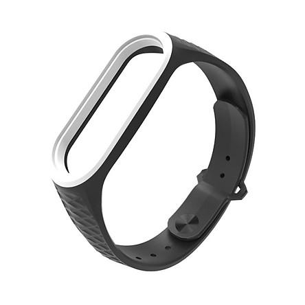 Dây đeo thay thế cho đồng hồ Xiaomi Miband 3 và 4 MB09 Mặt ngoài sần
