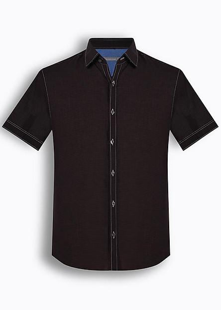 Áo sơ mi nam tay ngắn họa tiết The Shirts Studio Hàn Quốc TD42F2339BR