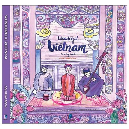 Wonderful Vietnam Coloring Book